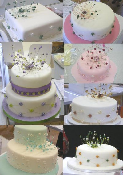 Some of the finished cakes - are they lovely!
