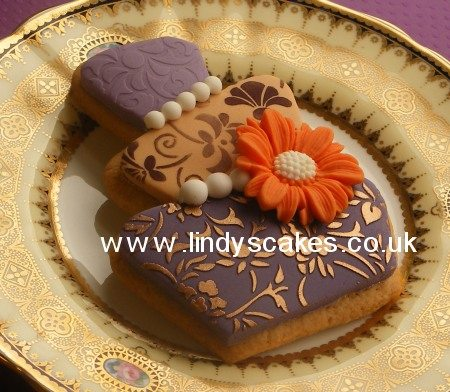 Wonky wedding cake cookie inspiration by Lindy Smith