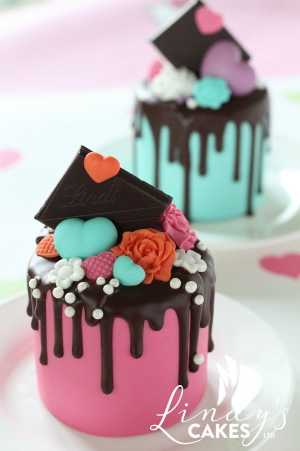 Chocolate drip mini cake by Lindy Smith