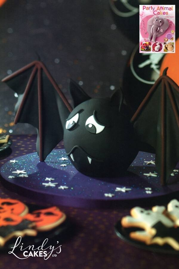 Halloween bat cake from 'Party animal cakes' book