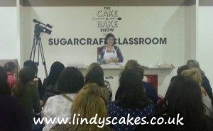 Lindy in action at the Cake and bake show 2012