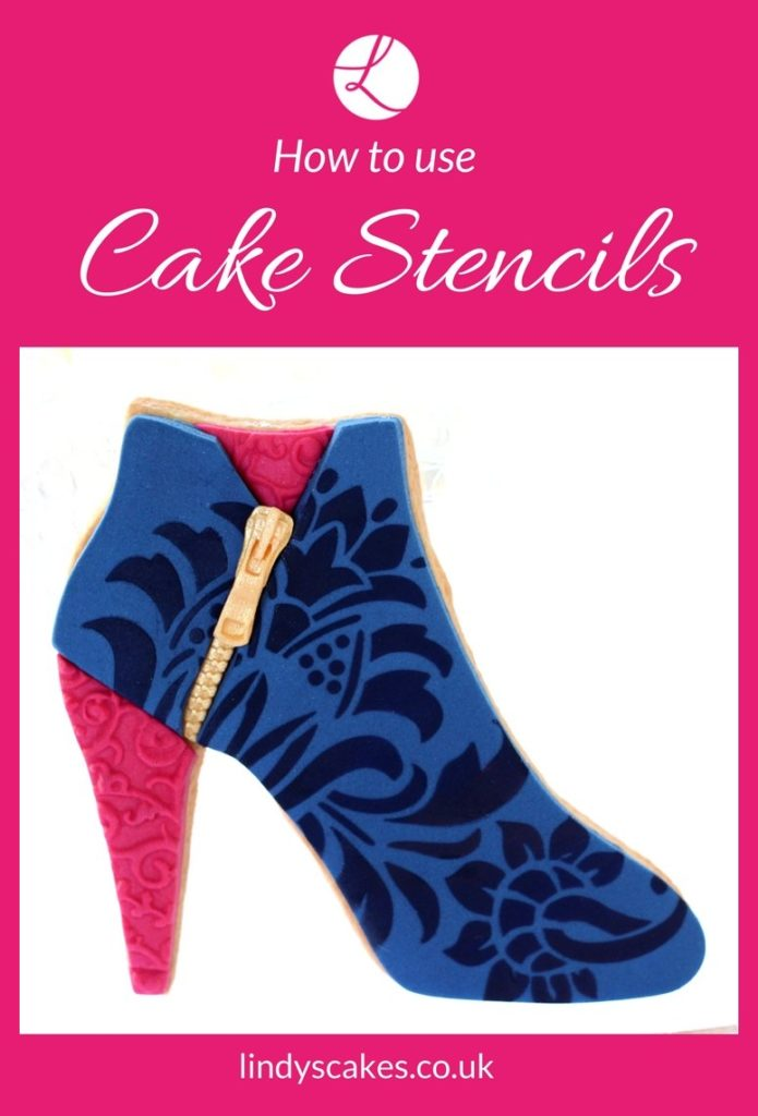 How to use cake stencils - tips by Lindy Smith