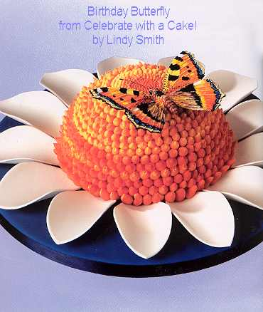 Pastillage petals and butterfly from Lindy's celebrate with a cake book