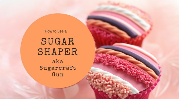 How to use a sugar shaper aka sugarcraft gun to decorate cakes