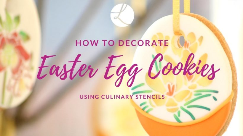How to decorate Easter egg cookies using stencils