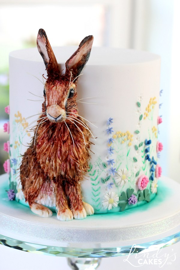 Spring hare cake by cake designer Lindy Smith