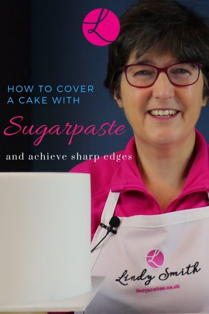 how to cover a cake with sugarpaste - rolled fondant