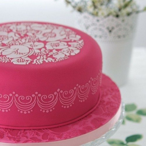be inspired by stencilled cakes gallery link