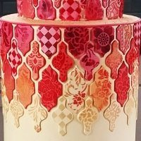 Tile cake from Lindy Smith's contemporary cakes designs online Craftsy class